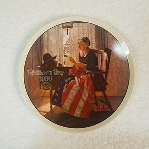 Norman Rockwell Mother's Day plate collection.